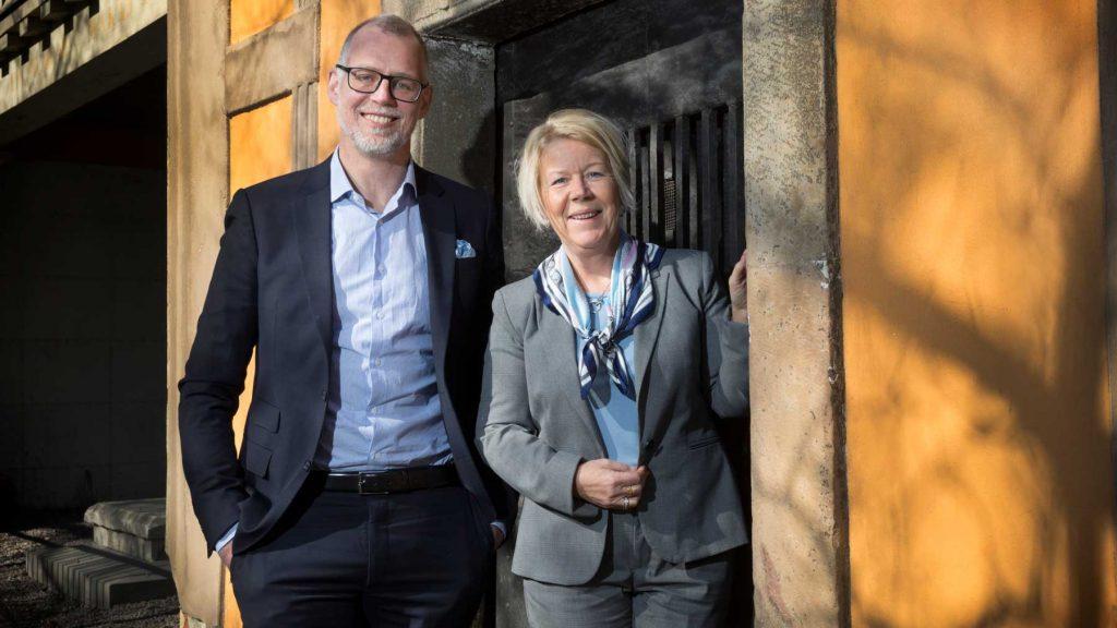 Mattias Sahlström och Charlotte Ahlquist på Experis
