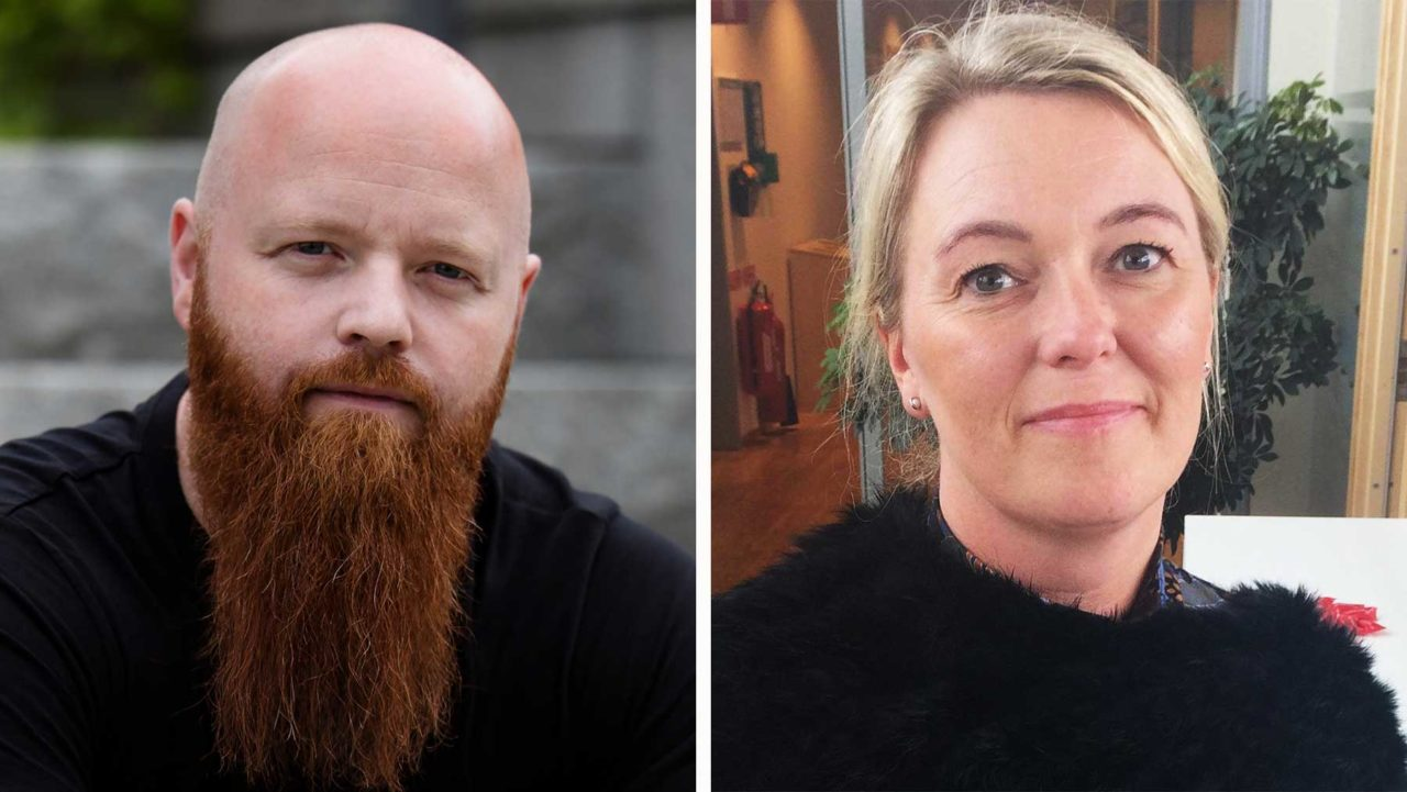 Charlotte Morlin och Andreas Gradin på CSN.