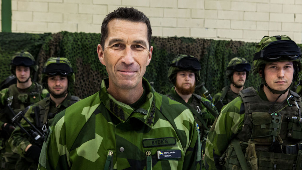 Överbefälhavare Micael Bydén leder Försvarsmaktens stora förändringsarbete. Foto: • Ronnie Hammar/Försvarsmakten