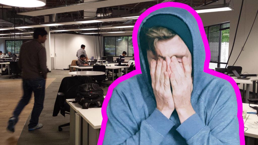 Öppet kontorslandskap kan vara stressande.