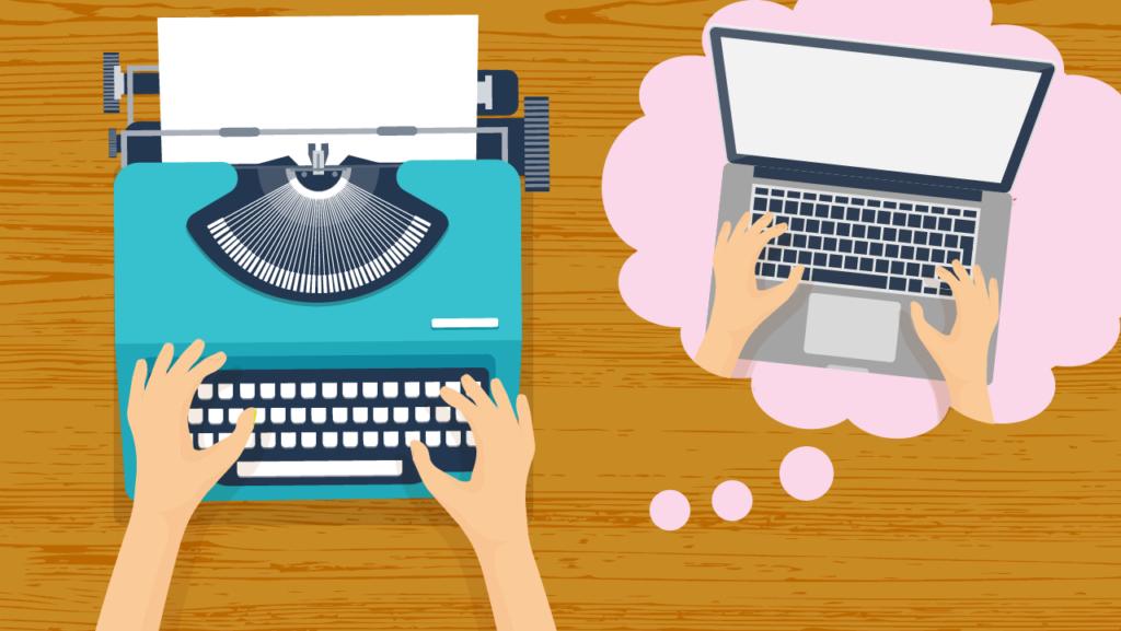 Skrivmaskin vs laptop