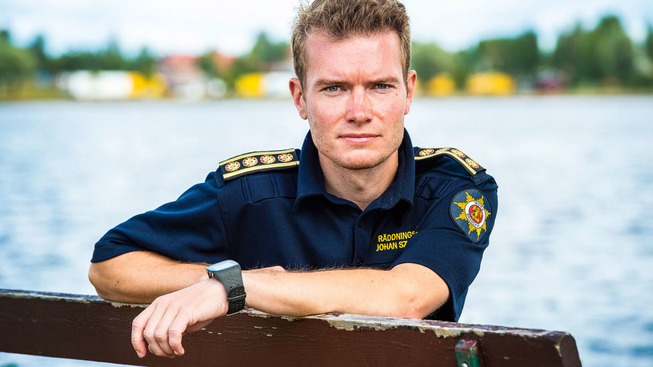 Johan Szymanski är räddningschef i Mora.