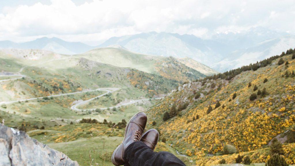 Höstskor och berg