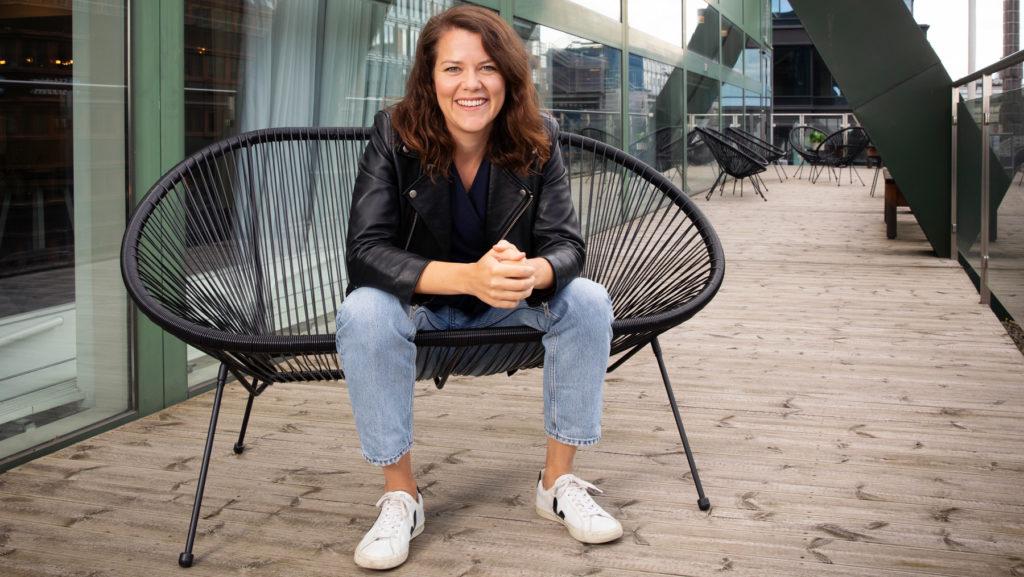 Carolina Fjellner på &frankly. Foto: Martina Huber
