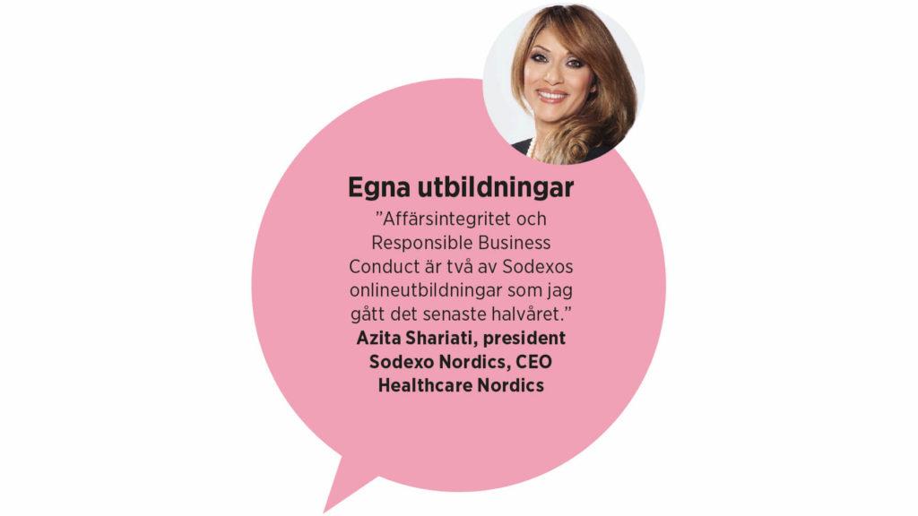 Azita Shariati, president Sodexo Nordics, CEO Healthcare Nordics