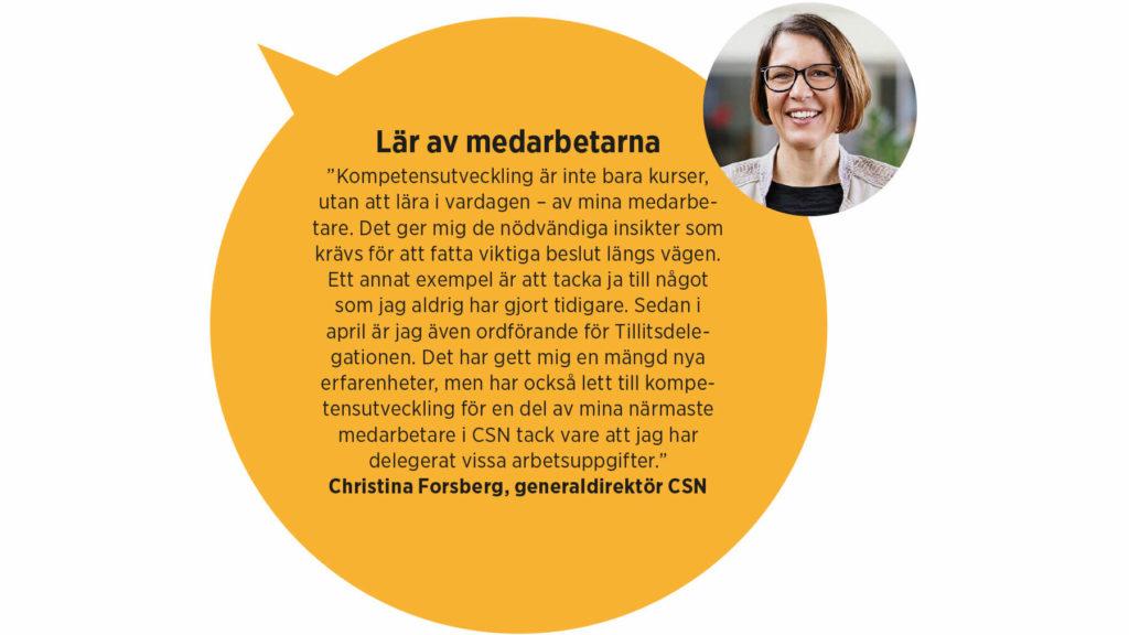 Christina Forsberg, generaldirektör CSN
