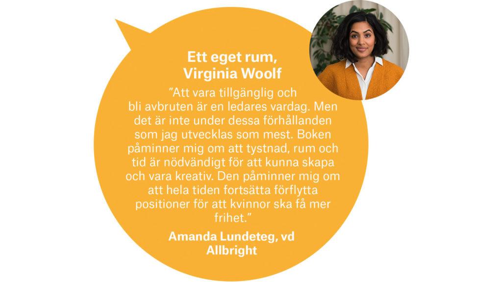 Amanda Lundeteg, vd Allbright