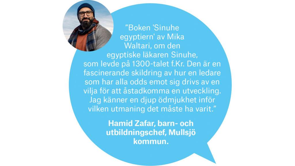 Hamid Zafar, barn-och utbildningschef, Mullsjö kommun