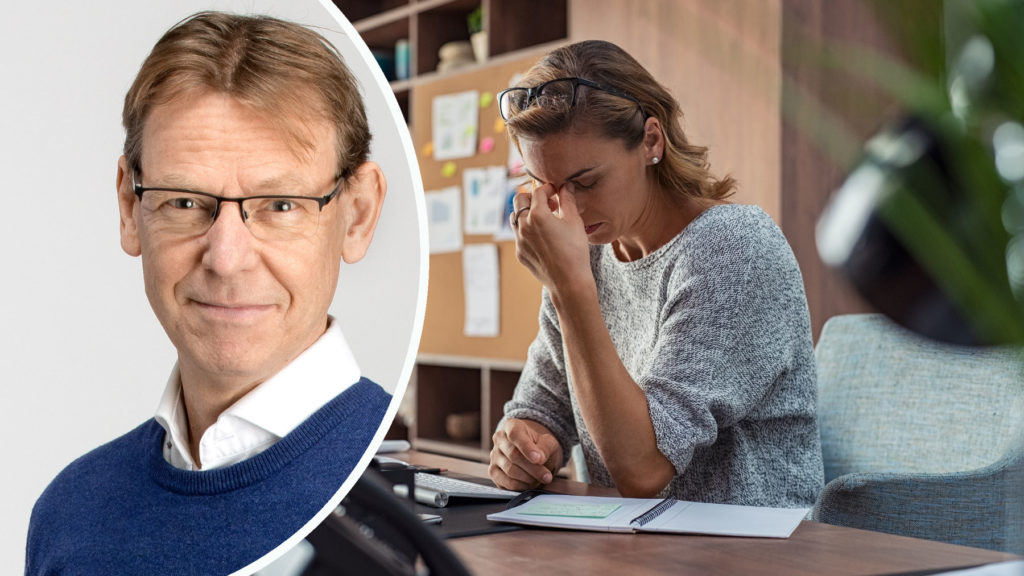 Stressforskaren Sören Hjälm utbildar chefer och ledare om stress hos Consensus. Foto: Pavel Koubek