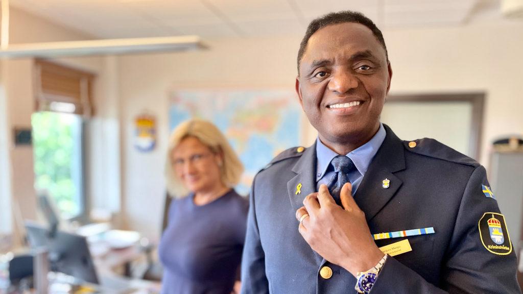 Cissi Elwin och Jacques Mwepu.