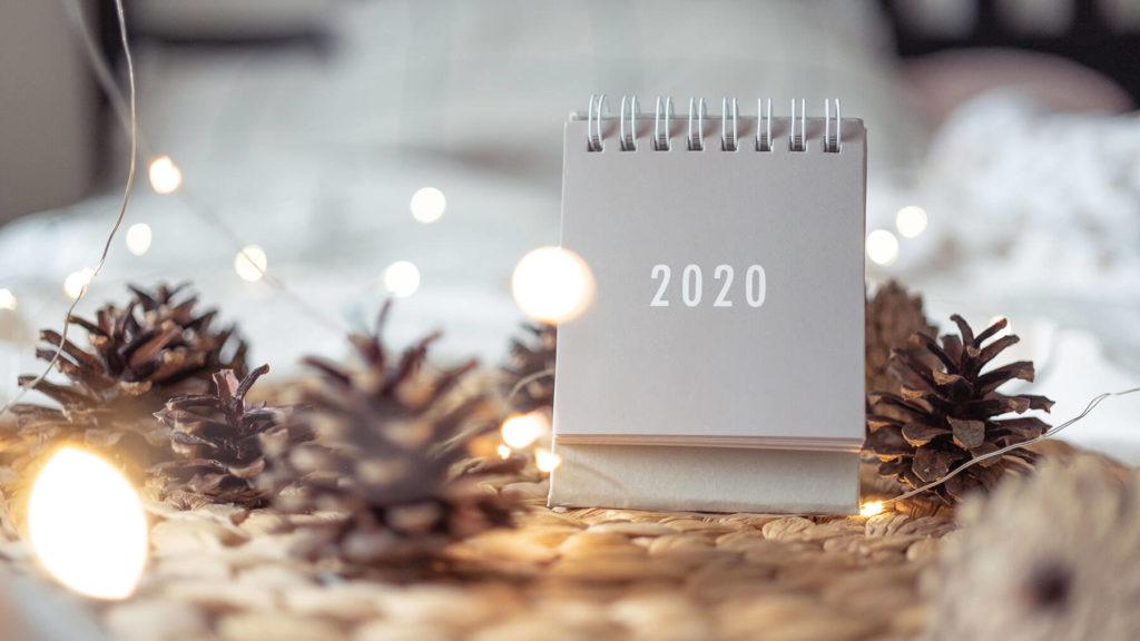 Kalender för 2020.