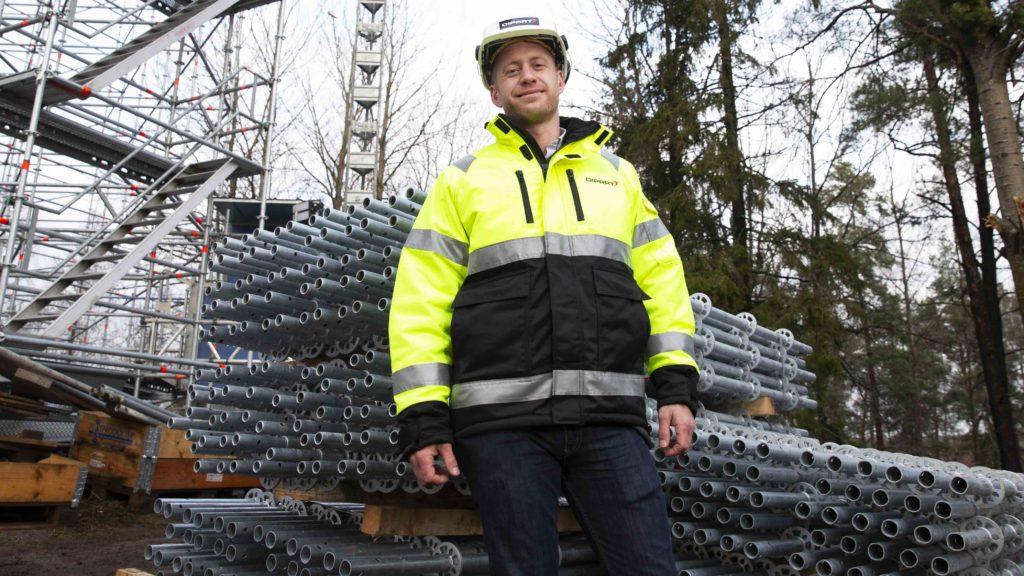 Patrick Lepierre, affärsområdeschef på Dipart. Bygge vid vattentorn i Tumba Foto: Martina Huber/Chef