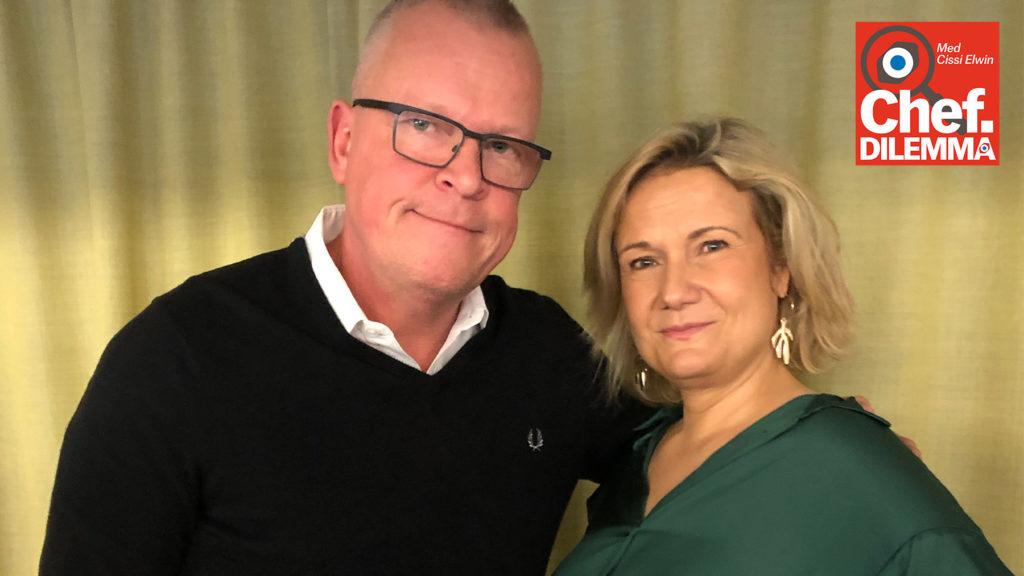 Cissi Elwin, vd på Chef, och Janne Andersson, förbundskapten för herrlandslaget i fotboll
