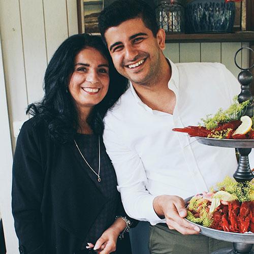 Arash Gilan och hans mamma