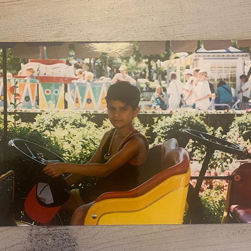 Arash Gilan som nioåring
