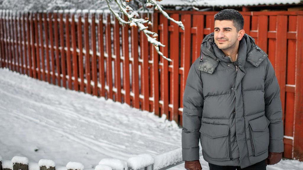 Arash Gilan i snölandskap