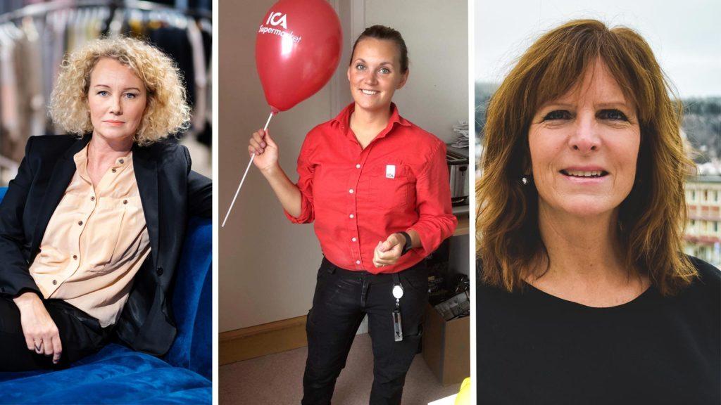 Anna Nordin (Svensk Handel), Lena Alke (Ica Krokom) och Nicki Eby (Clarion Hotel).