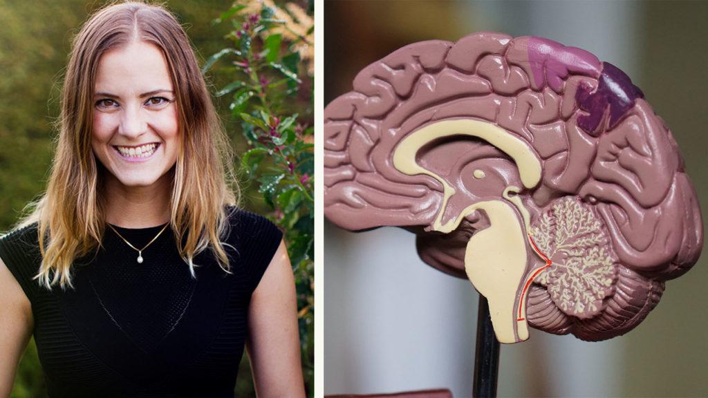 Hjärnforskaren Katarina Gospic förklarar hur hjärnan fungerar i kris. Foto Jenny Hammar/Brombergs