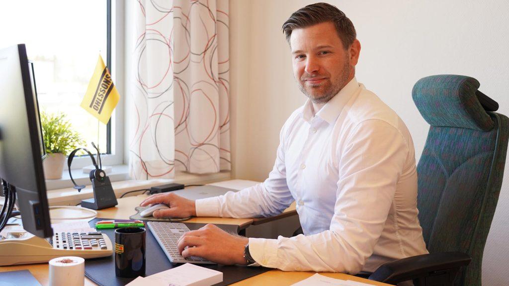 Andreas Kind, driftchef på Ohlssons AB