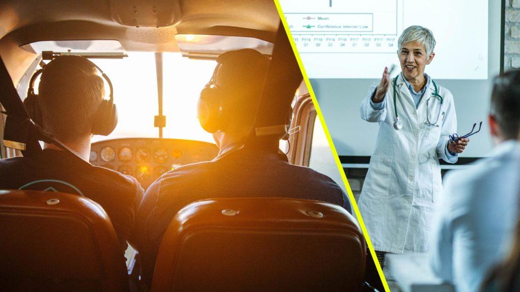 Pilot och doktor är två av de yrken som anses ha högst status
