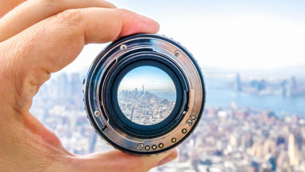 Kikarsikte med fokus