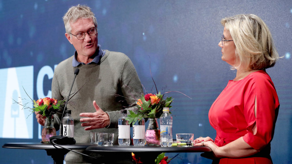 Anders Tegnell och Cissi Elwin på Chefdagen 2020