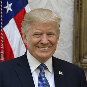Porträtt Donald Trump