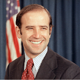 Advokaten Joe Biden som nyvald demokratisk senator 1972.