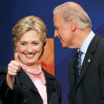Hillary Clinton har tidigt visat sitt stöd för demokraten Joe Biden.