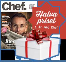 Julerbjudande! Halva priset på 1 år med Chef