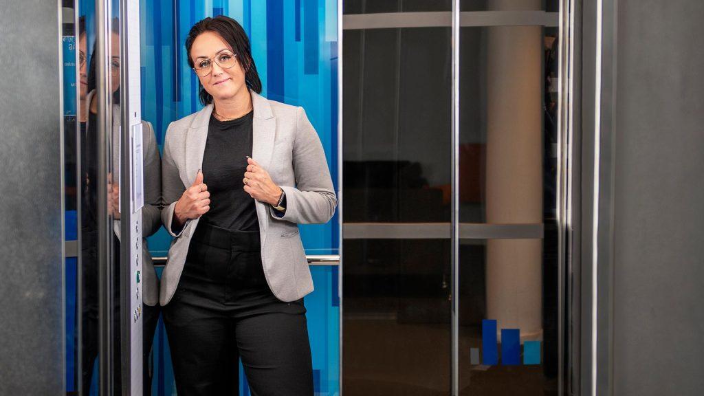 Cecilia Rosquist, distriktschef på Kone