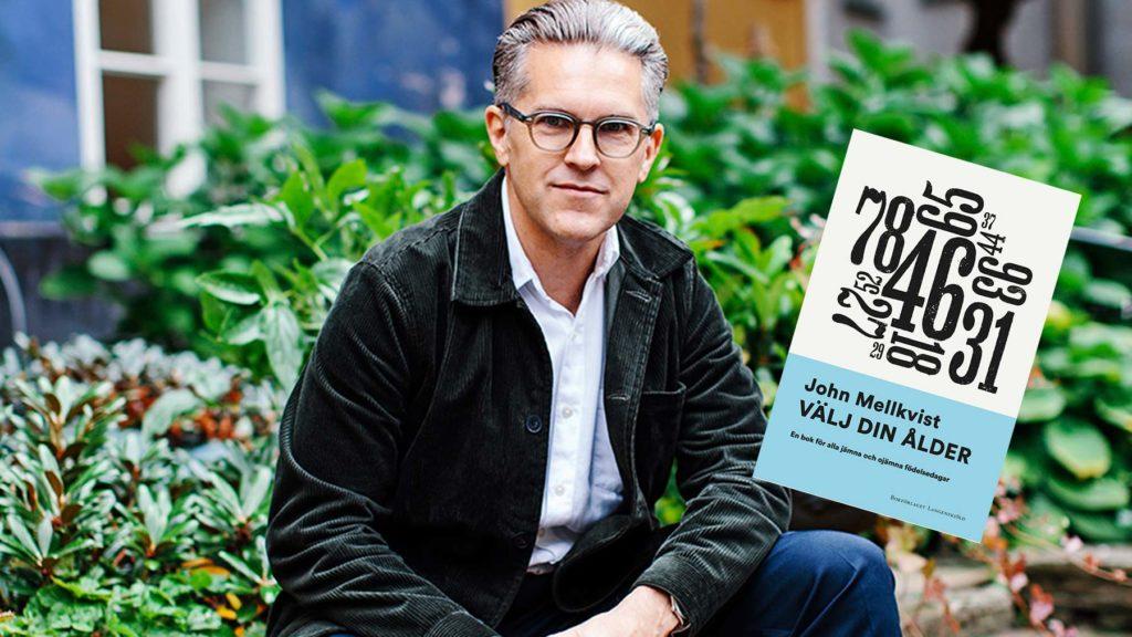 John Mellkvist och omslaget på hans bok Välj din ålder