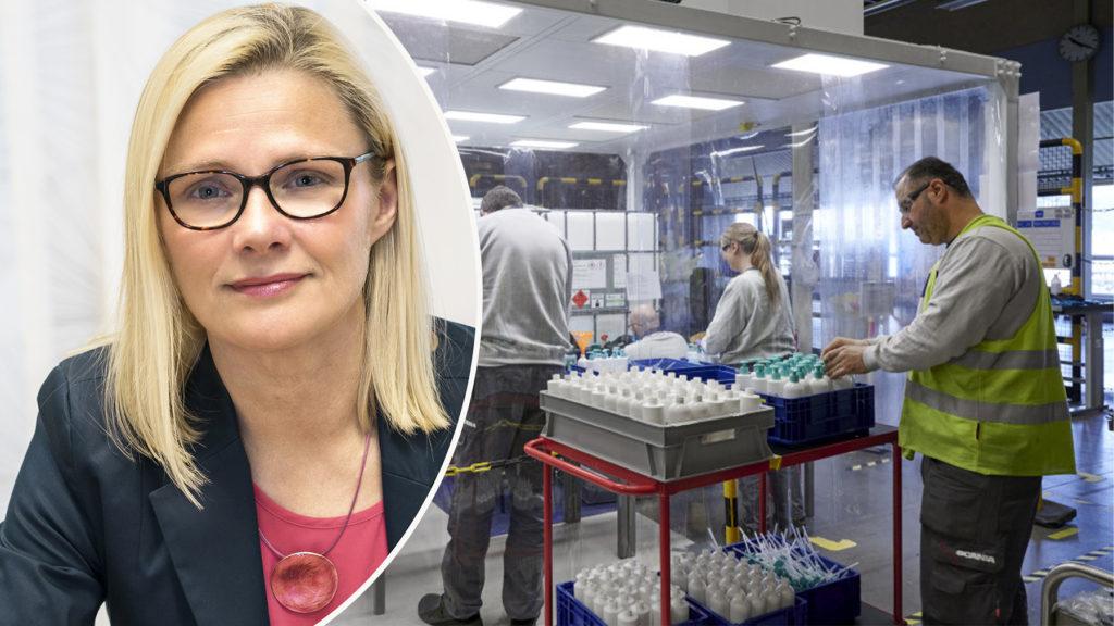 Att snabbt kunna hjälpa till i coronakrisen, bland annat med att paketera handsprit, ökade engagemanget hos medarbetare, menar Anna-Lena Strömsten på Scania.