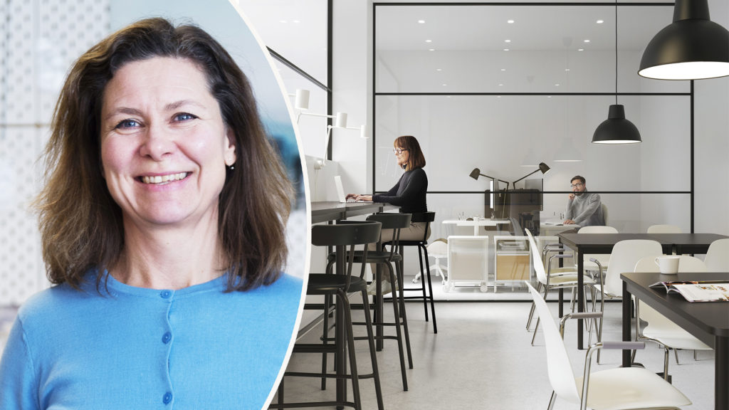 """""""Det blir upp till bevis att locka tillbaka medarbetare till kontoret när pandemin är över"""", säger Kicki, företagsinredare på IKEA som tipsar om de bästa lösningarna. Foto: IKEA"""