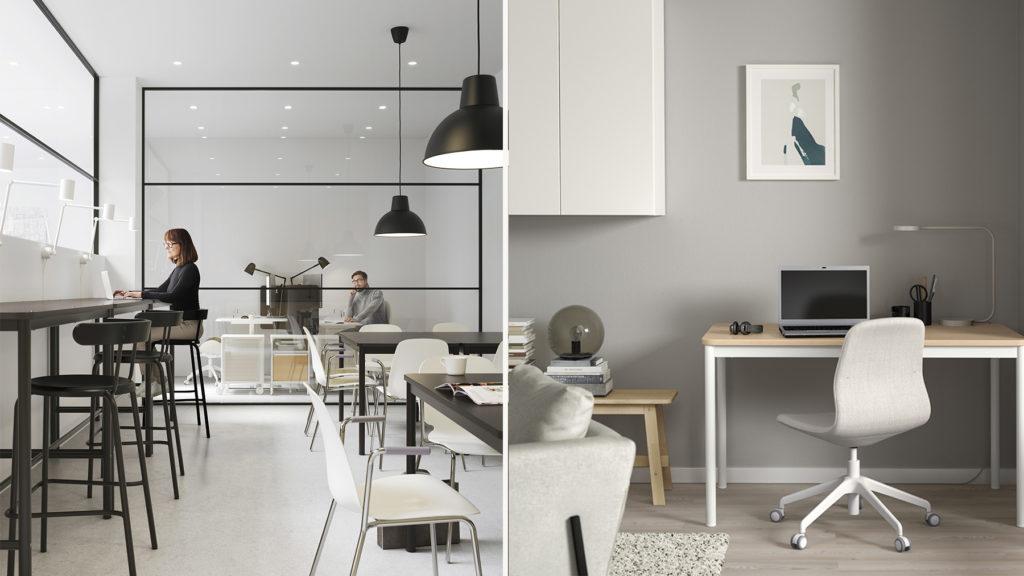 """""""Se hemarbetsplatsen som en zon i kontoret"""", säger Kicki Rundbäck på IKEA."""
