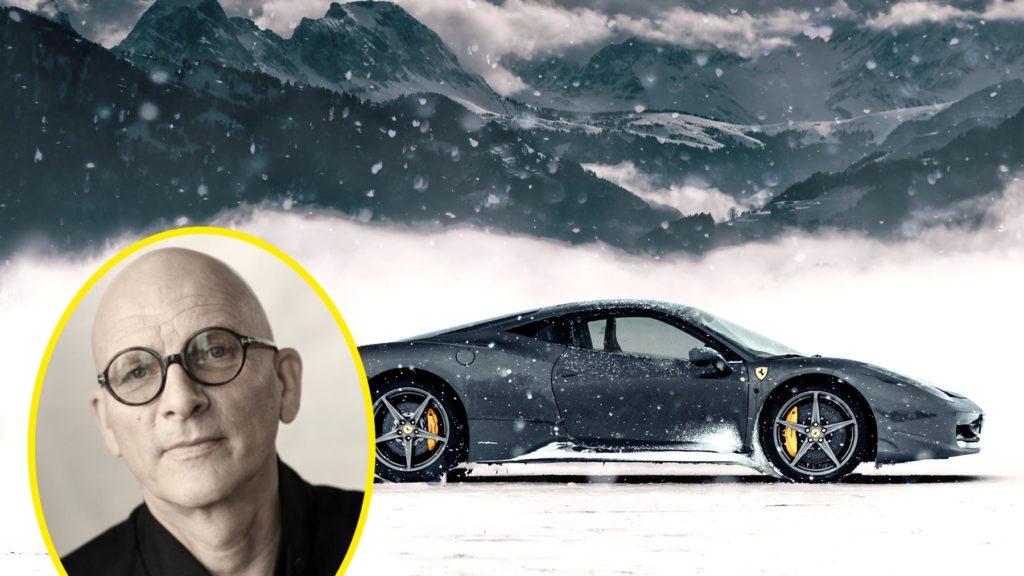 Kjell A Nordström och en Ferrari