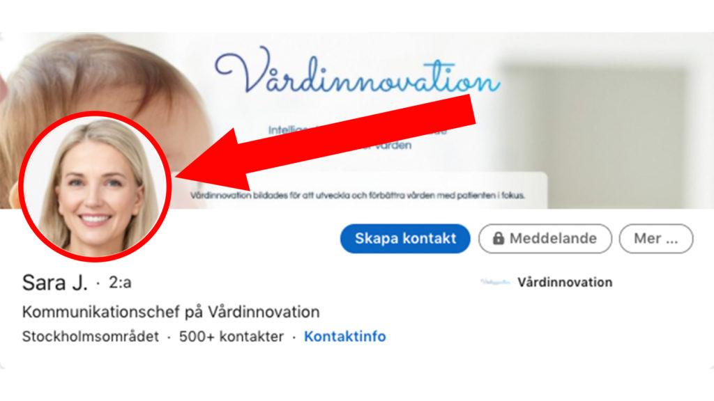 Sara Johanssons profil på Linkedin