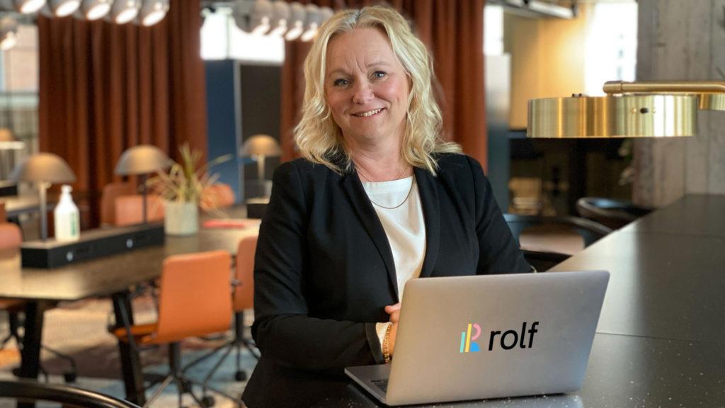 Pia Nilsson, vd på Rolf som hjälper chefer att bli bättre på strukturerad feedback digitalt och på distans.