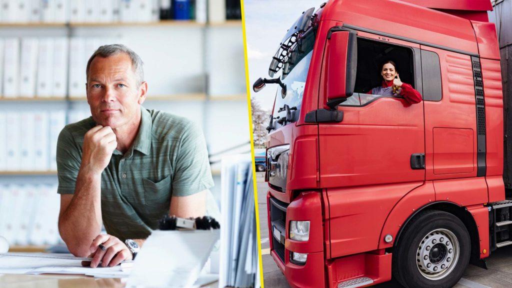 Administratör och lastbilsförare