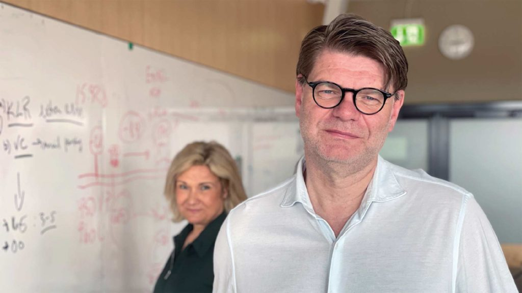 Björn Zoega och Cissi Elwin.