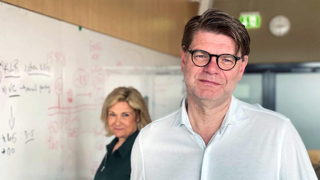 Björn Zoëga och Cissi Elwin.