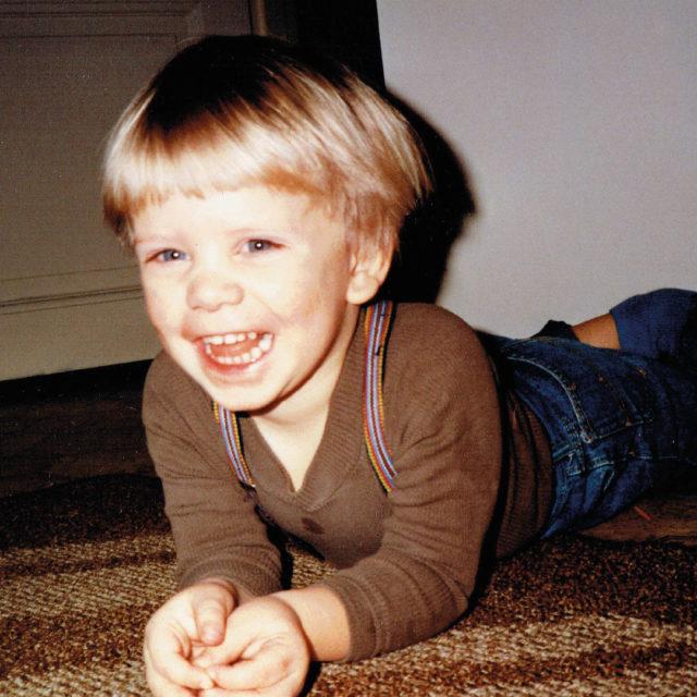Magnus som liten.