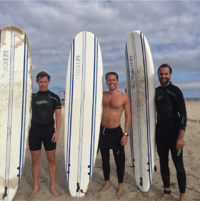 Surfing i Kalifornien ingick i den roadtrip Magnus gjorde tillsammans med sina närmaste vänner (och Doctrin medgrundare) Per Eriksson och Carlos Lorente.