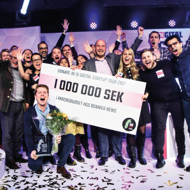 Magnus Liungman har gjort sig känd för att vara en mästare på att pitcha sina idéer. Här vinner Doctrin DI Startup Tour December 2017 och fick en miljon kronor i annonsutrymme.