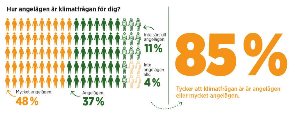 Grafik med statistik från undersökningen.