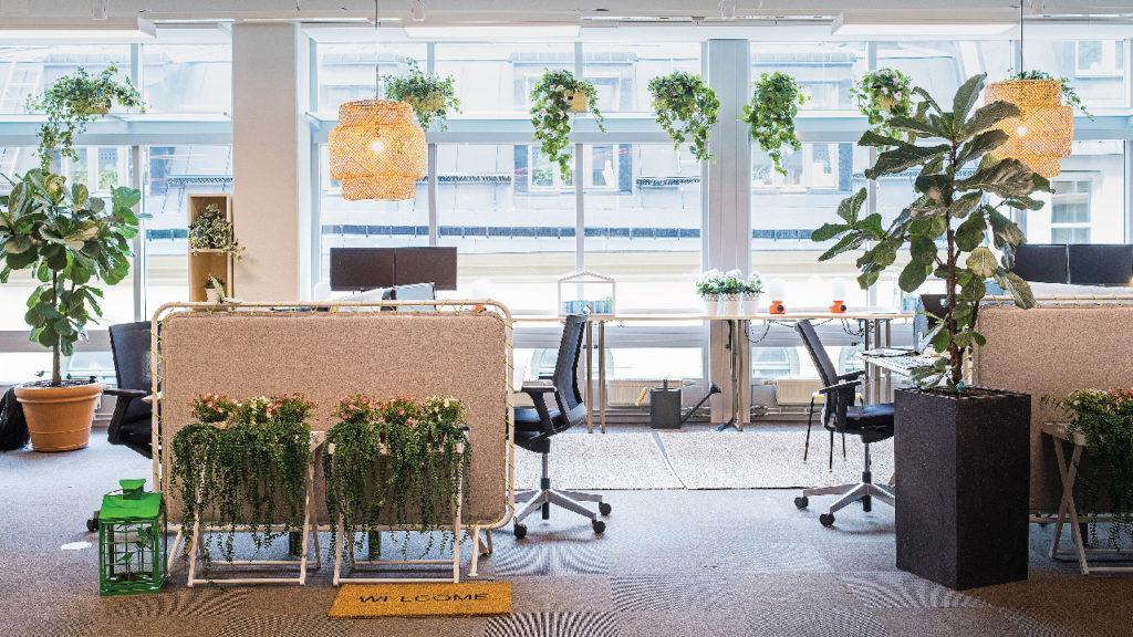Foto av ett smart kontor.