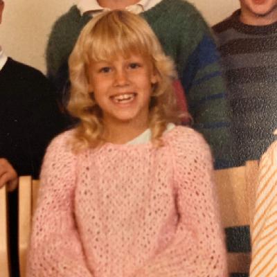 Jennie Claesson, åtta år gammal.