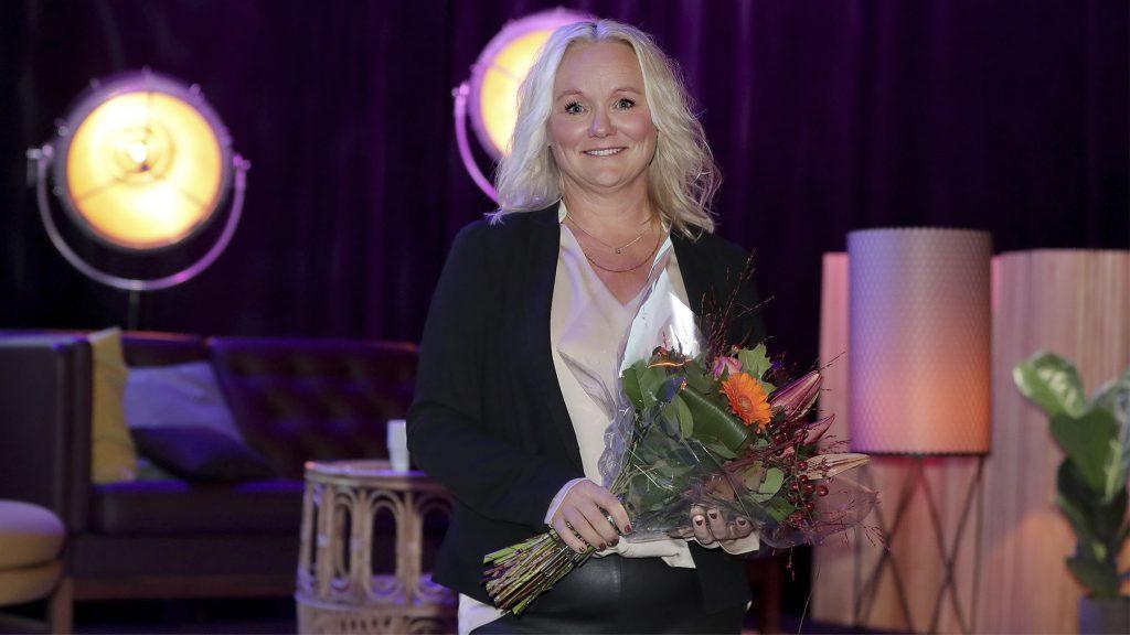 Pia Nilsson, vd på Rolf, berättade om chefens viktigaste fem minuter på Chefdagen. Foto: Karina Ljungdahl