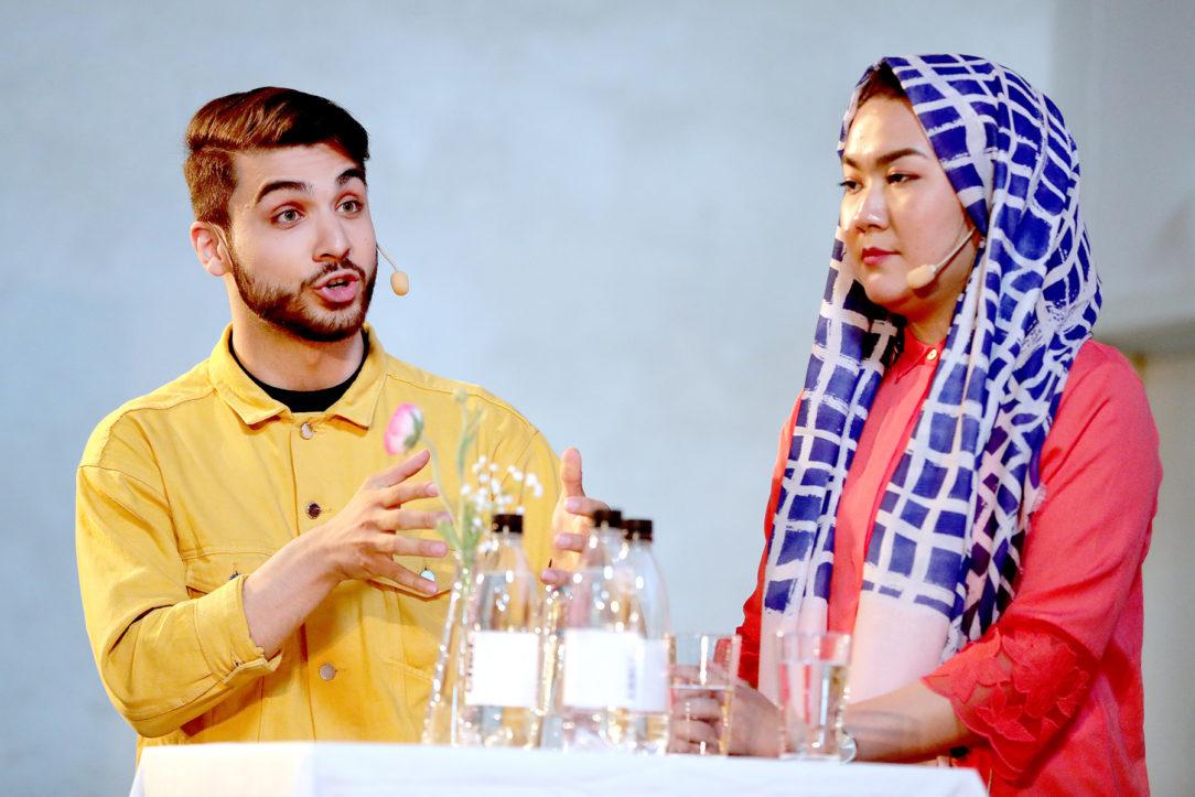 Shanga Aziz och Fatemeh Khavari på Chefs scen i Almedalen 2018