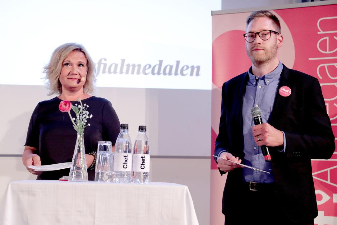 Cissi Elwin och Calle Fleur på Chefs scen i Almedalen